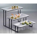 Rental store for 3 Tier Rectangular Food Stand and Trays in Surrey BC