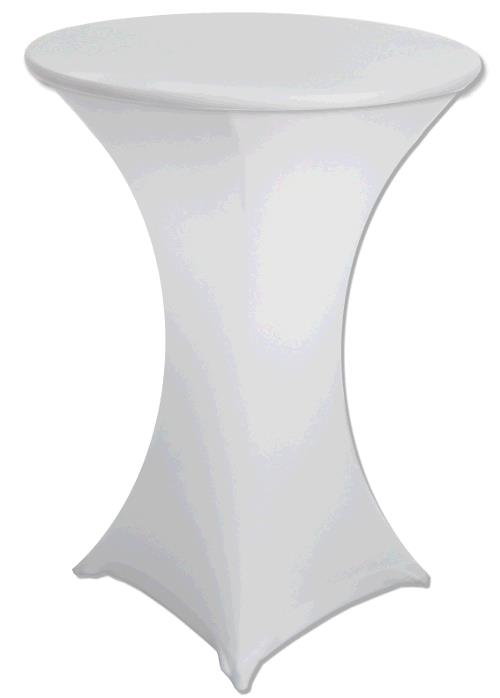 Where to find Spandex White Tablecover - 30  Round in Surrey