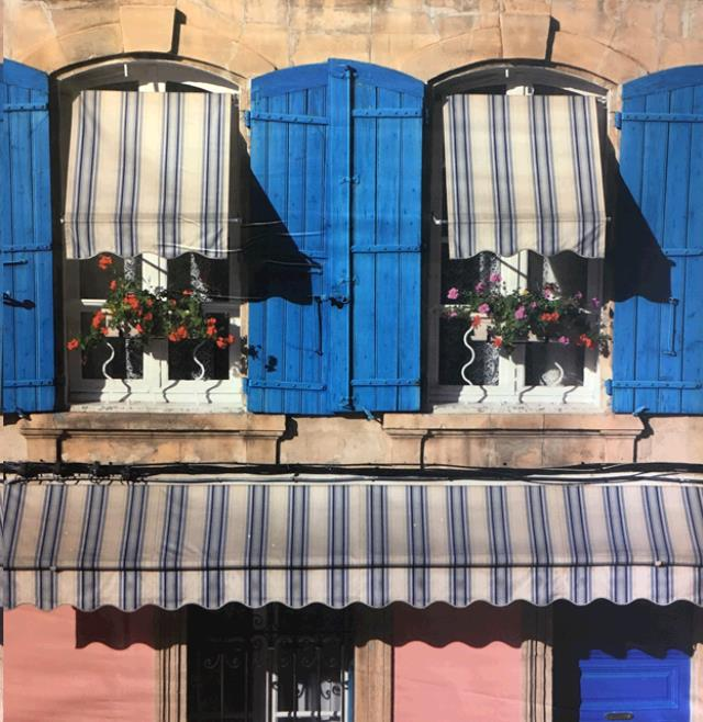 Where to find Backdrop - Blue Shutters in Surrey
