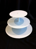 Rental store for Cupcake Stand 3 Tier - White, Round LG in Surrey BC