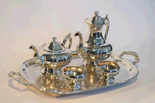 Where to find Silver Tea Service Set in Surrey