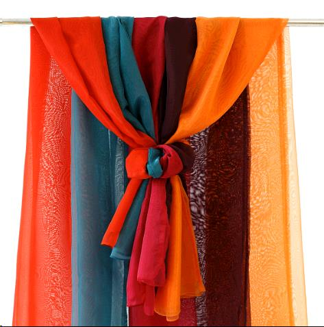 Where to find Drapery - Organza Orange in Surrey