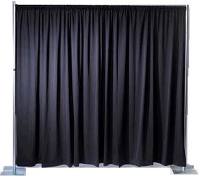 Where to find Poly Black Drape Panel in Surrey