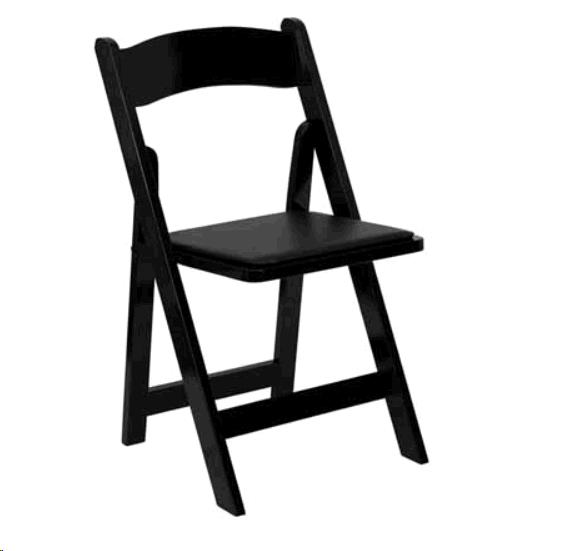 Where to find Chair - Black Padded Folding in Surrey
