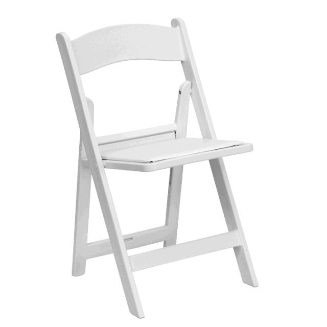Where to find Chair - White Padded Folding in Surrey