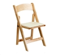 Rental store for Wooden Padded Folding Chair in Surrey BC
