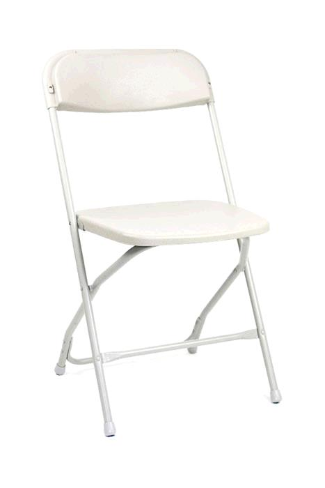 Where to find Chair - White Folding Alloy in Surrey