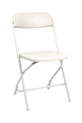 Rental store for White Folding Alloy Chair in Surrey BC