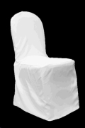 Rental store for White Banquet Chair Cover in Surrey BC