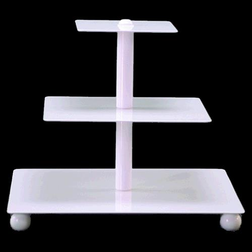 Where to find Cupcake Stand 3 Tier - White, Square in Surrey