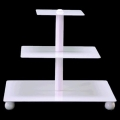 Rental store for Cupcake Stand 3 Tier - White, Square in Surrey BC