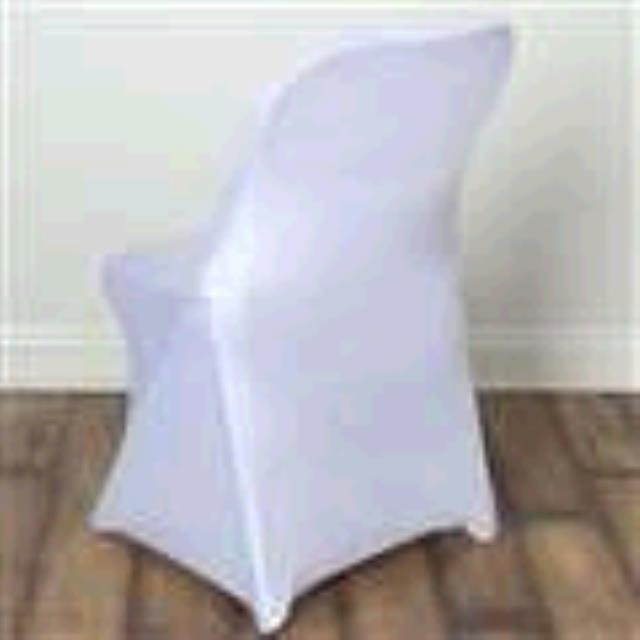Where to find Spandex Folding Chair Cover - White in Surrey