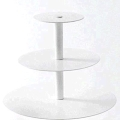 Rental store for Cupcake Stand 3 Tier - White, Round SM in Surrey BC
