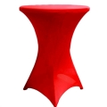 Rental store for Spandex Red Tablecover - 30  Round in Surrey BC
